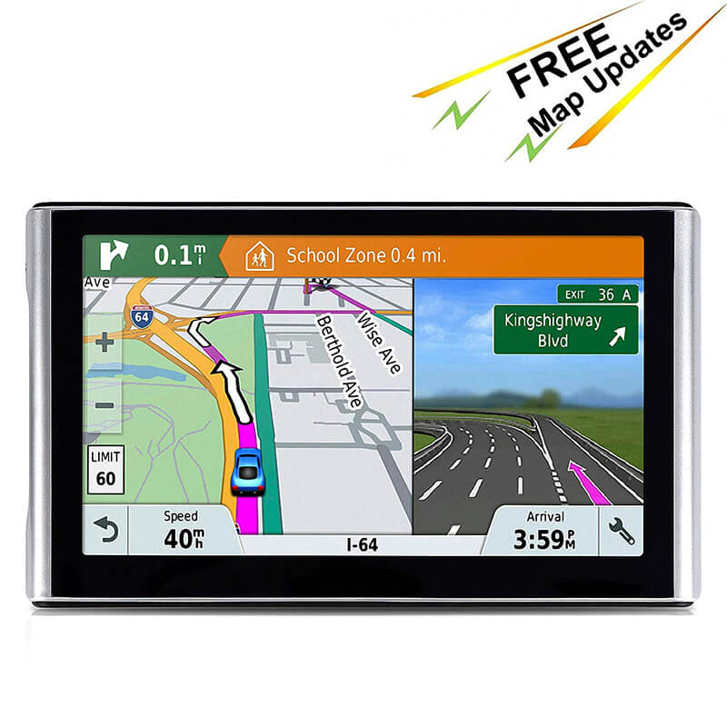 Portable 7in Mirror Touch Screen Car GPS 8GB Satellite Navigation with Free Map